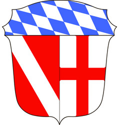 Coat of arms of regensburg district in upper vector