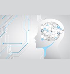 creative brain concept background artificial vector image