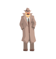 detective character standing private investigator vector image