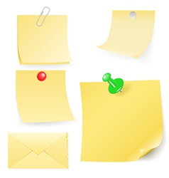 disrupt envelope and post-it collection vector image
