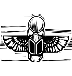 Egyptian Winged Scarab vector image