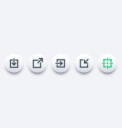 External link download login and repost icons vector