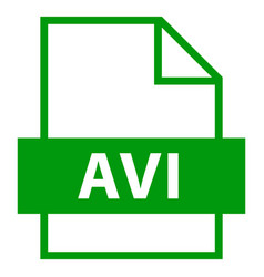 File name extension avi type vector
