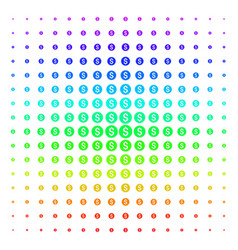financial seal shape halftone spectral pattern vector image