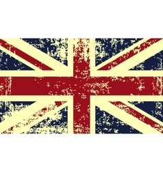 grunge flag great britain vector image