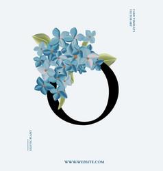 hydrangea wedding 3d realitic wedding card modern vector image