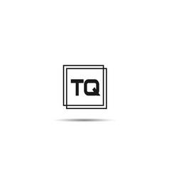 initial letter tq logo template design vector image