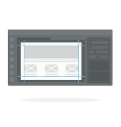 interface flat isolated vector image