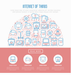 Internet of things concept in half circle vector