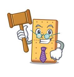Judge graham cookies mascot cartoon vector