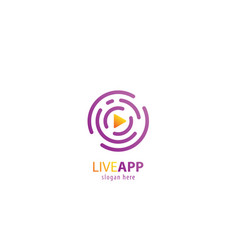 live app video logo vector image