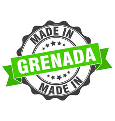 Made in grenada round seal vector