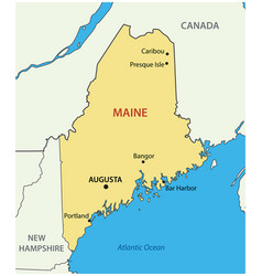 maine - state usa vector image
