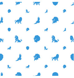 Majestic icons pattern seamless white background vector