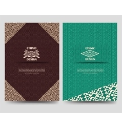 Native american borders flyer template vector