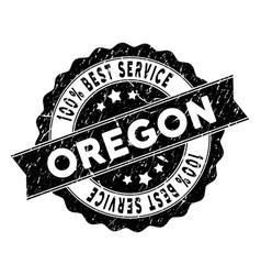 Oregon state best service stamp with dust effect vector