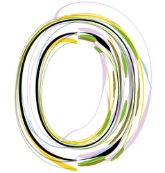 Organic Font letter o vector image