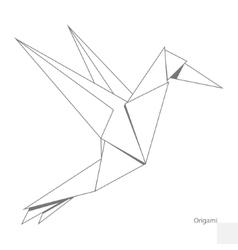 Origami paper bird vector