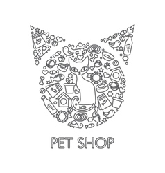 Pets Shop Poster vector image