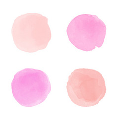 Pink watercolor splash vector