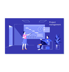 planning and time management concept with people vector image