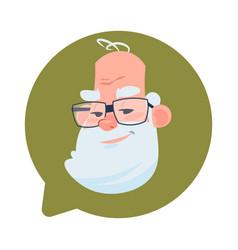 profile icon senior male head in chat bubble vector image