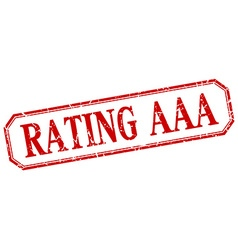 Rating aaa square red grunge vintage isolated vector