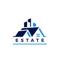 Real estate house building logo icon vector