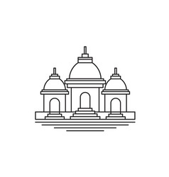religious temple in simple line art vector image