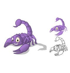 Scorpion Cartoon Character vector image
