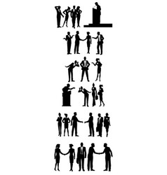 six groups of business people vector image