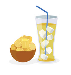 Sugarcane juice vector