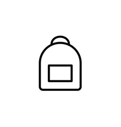 thin line backpack icon vector image