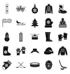 things from canada icons set simple style vector image