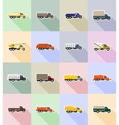 Truck flat icons 18 vector