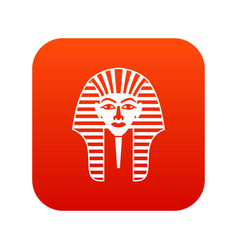 tutankhamen mask icon digital red vector image