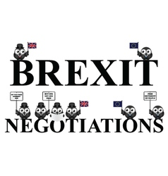 UK exit negotiations from the European Union vector