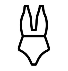 Wear swimsuit icon outline style vector