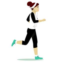 Woman running vector