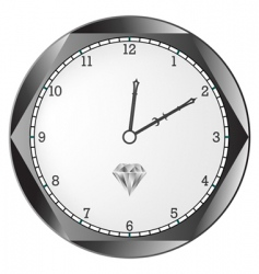 diamond clock vector image vector image
