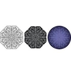 Fantastic geometry mandala for coloring book vector image vector image