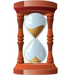 hourglass vector image vector image