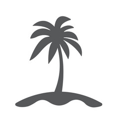 island and palm icon flat vector image