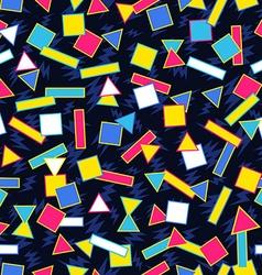 Retro 80s geometric pattern background vector image vector image