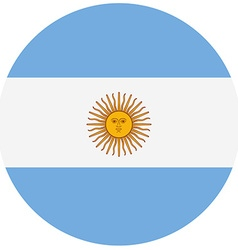 Round Argentina flag vector image vector image