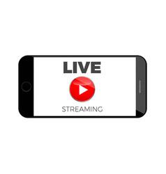 stream live broadcast icon vector image vector image