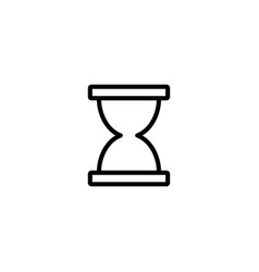 thin line sand clock icon vector image vector image