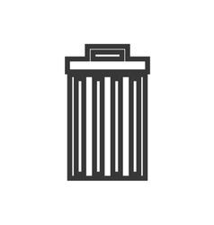 Trashcan waster icon vector image