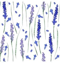 Watercolor lavender seamless vector image vector image