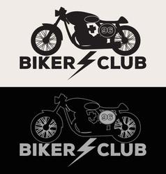 Biker Club Logo Set vector image